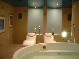 Heated Loungers and Curved Shower, Swansea, south Wales