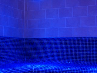 Commercial Tiled Steam Room, Merthyr Tydfil, south Wales
