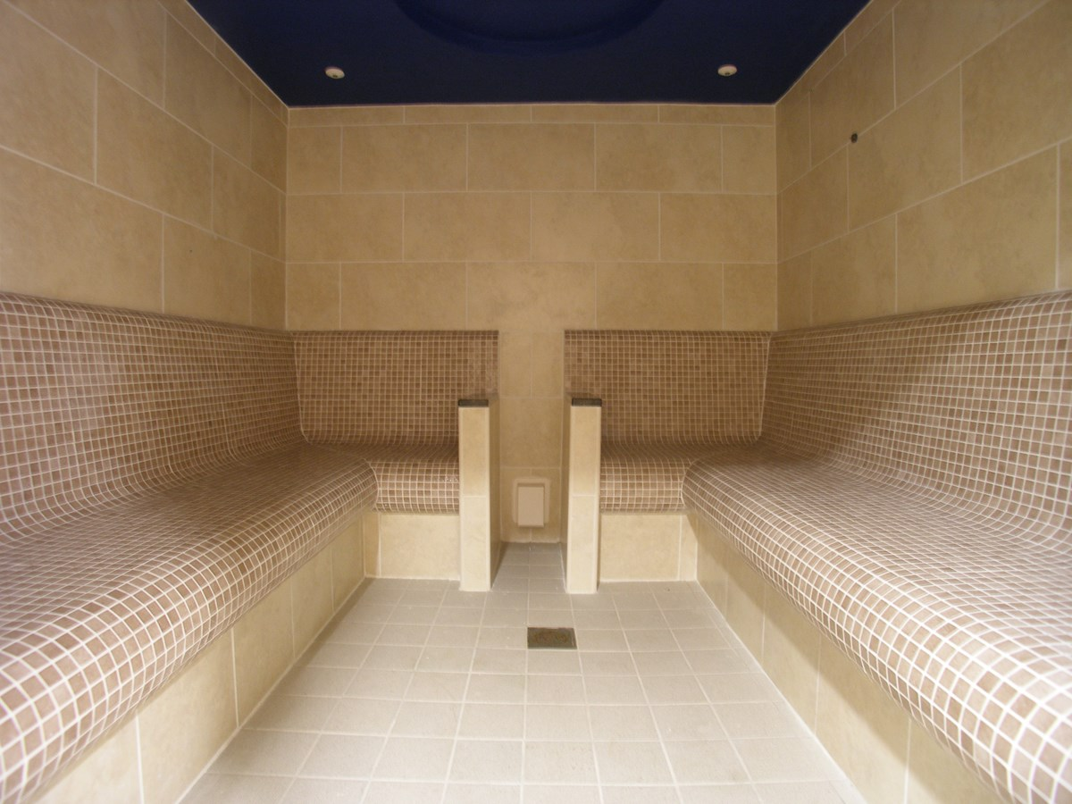 Commercial Tiled Steam Room Pontypool Bos Leisure