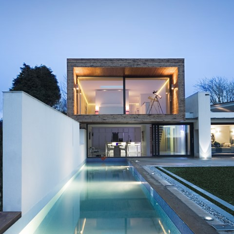 Contemporary House and Tiled Pool, Gower, Swansea, south Wales