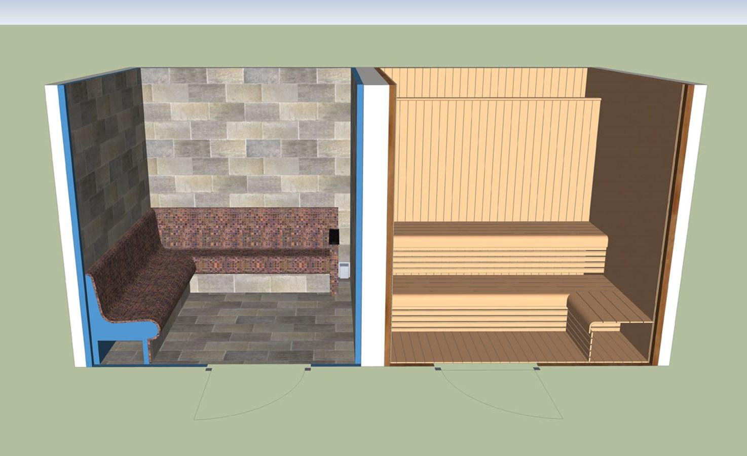 Commercial Tiled Steam Room Merthyr Tydfil Bos Leisure