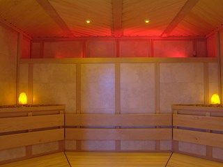 Tiled Sauna with Crystal and LED lights